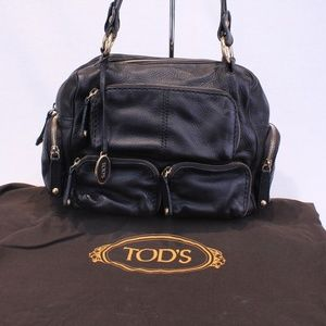 Tod's Brown T-Bag Media Leather Tote